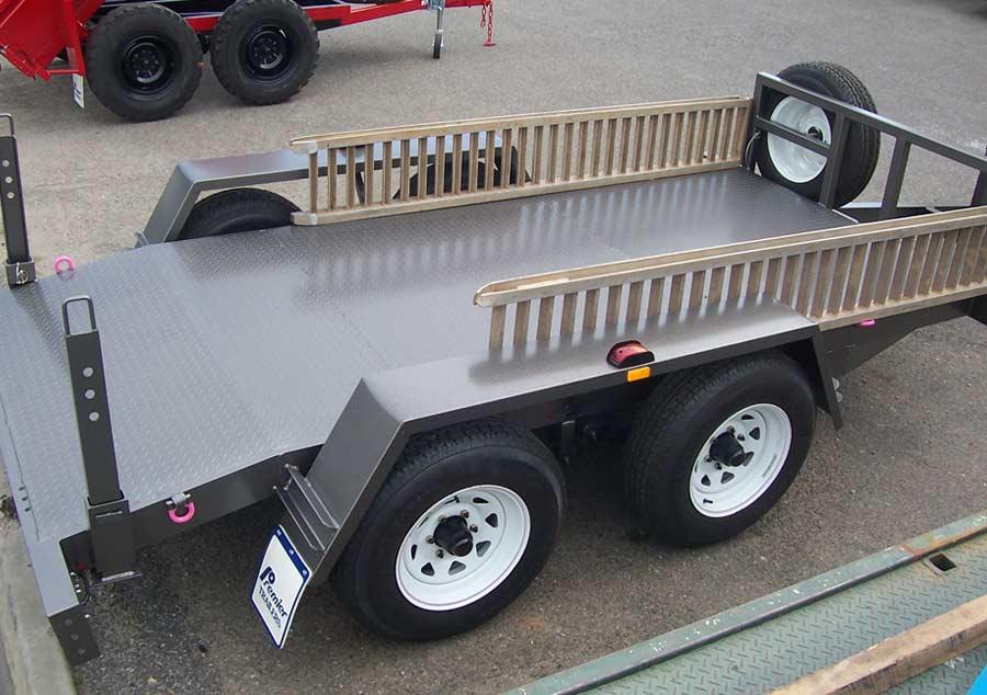 4.5t plant trailer with aluminium ramps