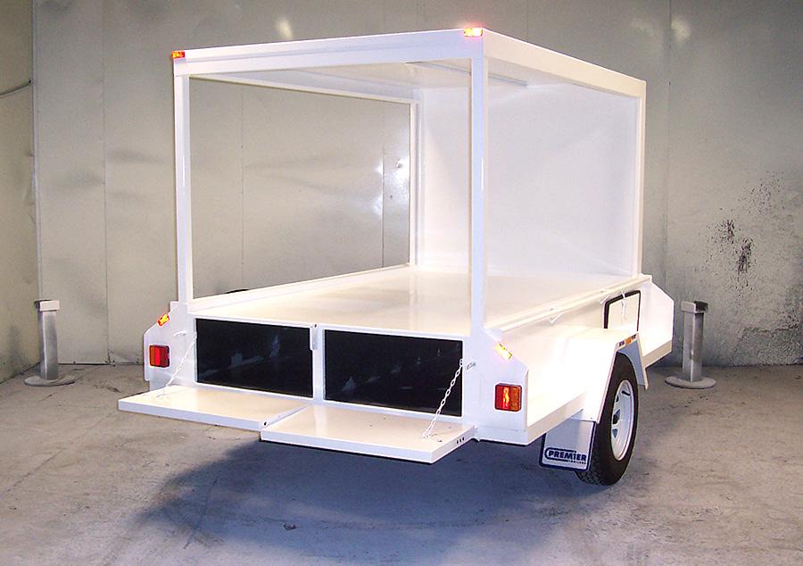7x5 box trailer for traffic control