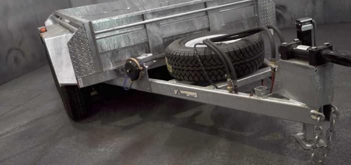 8x5 hot dip galvanised box trailer
