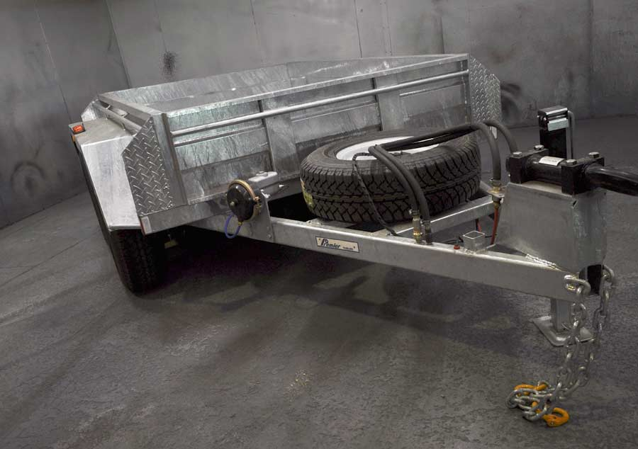 8x5 hot dip galvanised box trailer